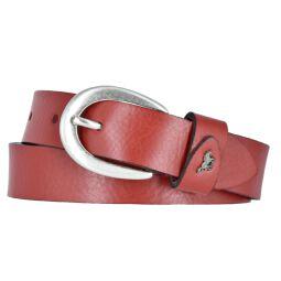 Mustang Damengürtel Ledergürtel genarbt 25mm rot