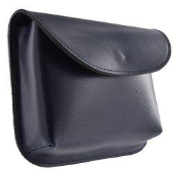 Vanzetti Damen Gürteltasche klein aus Leder Tasche blau