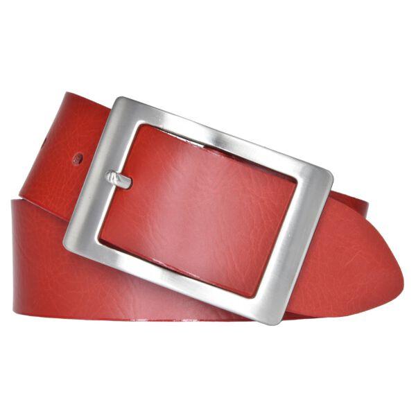 Gürtel Damengürtel Leder Gürtel 40 mm bordeaux rot Nappaleder kürzbar bis 110 cm