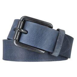 VANZETTI Herrengürtel Vollrindleder 40 mm blau