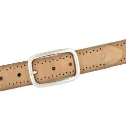 Mustang Damen Leder Gürtel Ledergürtel 35 mm cognac Veloursleder