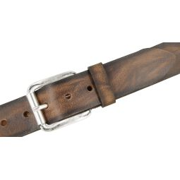 BERND GÖTZ Ledergürtel Herrengürtel braun 40 mm Büffelleder