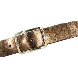 Bernd Götz Gürtel Damen Leder 35 mm Braun Metallic kürzbar Damengürtel mit Meta Print