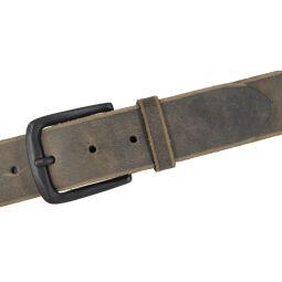 VANZETTI Herren Ledergürtel grau Vollleder Gürtel 40 mm