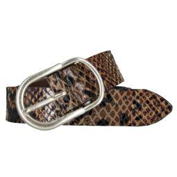Vanzetti Damengürtel mit Schlangenprägung verziert 30 mm