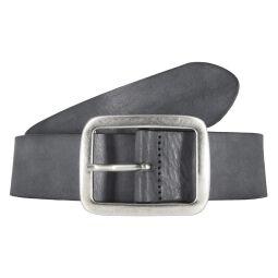 Vanzetti Damengürtel 40 mm Vollleder schwarz Grau