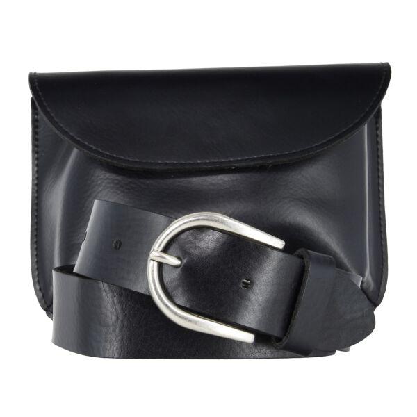 Vanzetti Damen Gürtel- / Taschenset 16x 12 x 2 cm schwarz