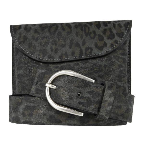 Vanzetti Damen Gürtel- / Taschenset 16 x 12 x 2 cm grau schwarz