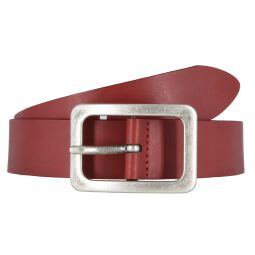 Vanzetti Damengürtel rot 35 mm Ledergürtel