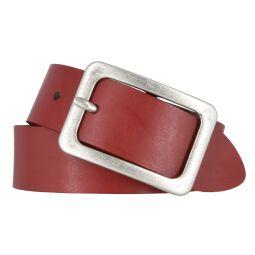 Vanzetti Damengürtel rot 35 mm Ledergürtel 90