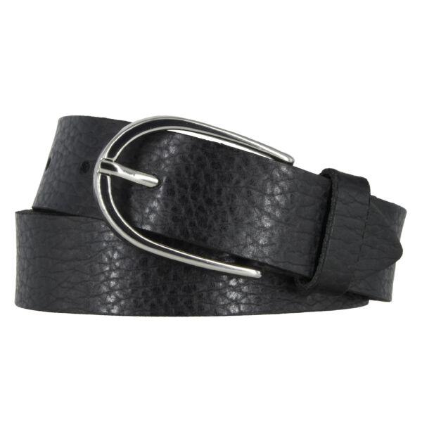 Vanzetti Damengürtel schwarz Metallic 30 mm Ledergürtel