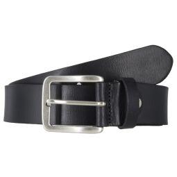 Vanzetti Herrengürtel schwarz 40 mm Vollleder