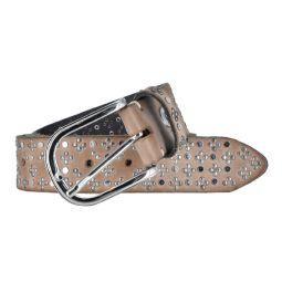 b.belt Damen Leder - Nietengürtel 35 mm...
