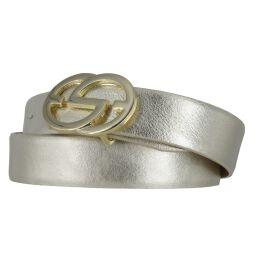 Silbergift Damengürtel 30 mm gold mit edler...