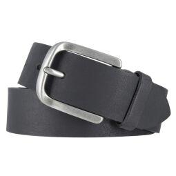 Tom Tailor Ledergürtel Herren schwarz 40 mm Vollleder