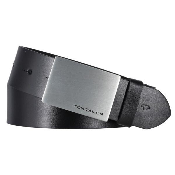 "Tom Tailor Gürtel ""Bob"" 35 mm schwarz Koppelschließe Herrengürtel"