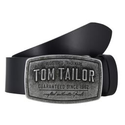 "Tom Tailor Gürtel ""Luke"" Koppelschließe schwarz Herrengürtel"