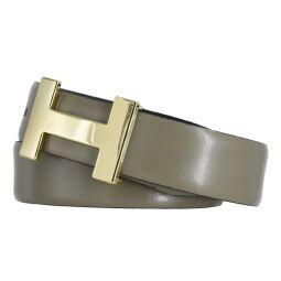 Silbergift Damengürtel khaki mit Designschließe