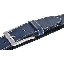Bernd Götz Herren Gürtel Ledergürtel Herrengürtel Belt Eindornschließe kürzbar 40mm dunkelblau