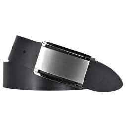 Bernd Götz Herren Gürtel Ledergürtel Herrengürtel Belt Koppelschließe 35mm schwarz