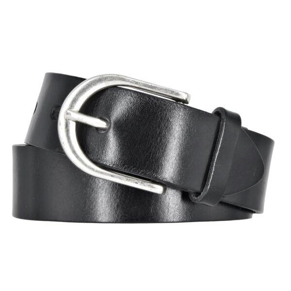 Vanzetti Damen Leder Gürtel Belt Ledergürtel Damengürtel Schwarz 35mm Eindornschließe