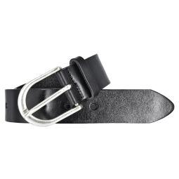 Vanzetti Damen Leder Gürtel Belt Ledergürtel Damengürtel Schwarz 35mm Eindornschließe 80 cm