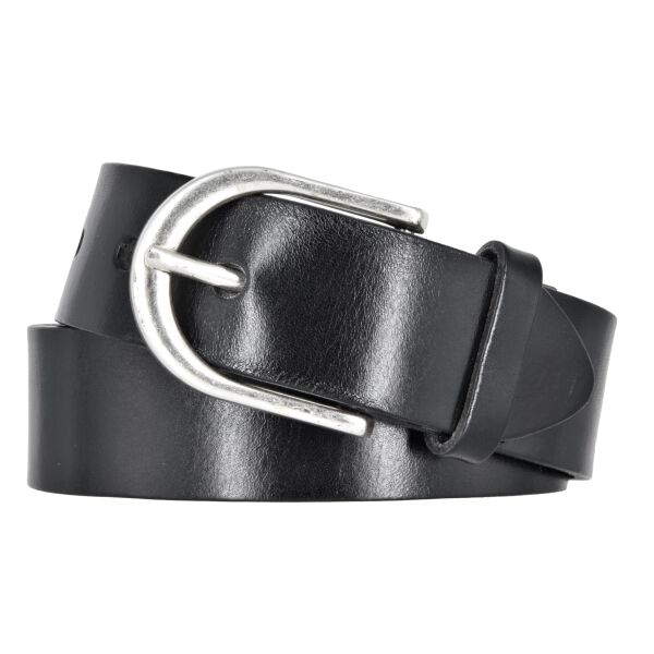 Vanzetti Damen Leder Gürtel Belt Ledergürtel Damengürtel Schwarz 35mm Eindornschließe 90 cm