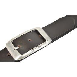 Tom Tailor Damen Leder Gürtel Belt Ledergürtel Rindleder used Dunkelbraun 40mm 95 cm