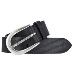Tom Tailor Denim Damen Leder Gürtel Schwarz 35mm Schnittmuster 80 cm