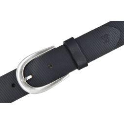 Tom Tailor Denim Damen Leder Gürtel Schwarz 35mm Schnittmuster 100 cm