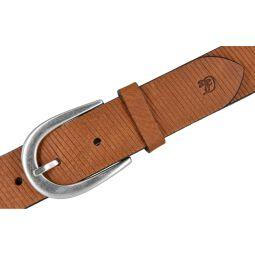 Tom Tailor Denim Damen Leder Gürtel Rust 35mm Schnittmuster 80 cm