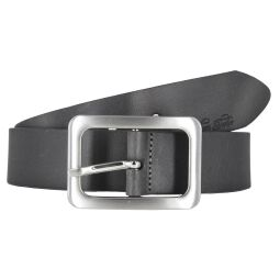 Tom Tailor Damen Leder Gürtel Grau 35mm soft vintage Rindleder