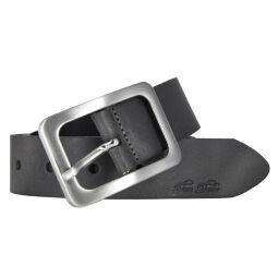 Tom Tailor Damen Leder Gürtel Grau 35mm soft vintage Rindleder 90