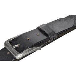 MYTEM-GEAR Gürtel Ledergürtel Herrengürtel Büffelleder Schwarz 40mm