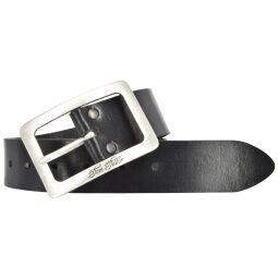 Tom Tailor Damengürtel Vollleder schwarz 4cm Ledergürtel
