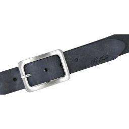 Tom Tailor Damen Leder Gürtel navy 35mm 90