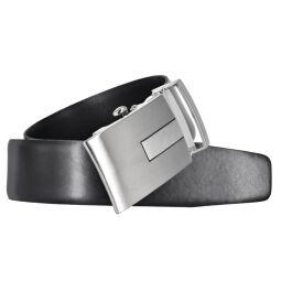 Herren Leder Gürtel 35 mm breit schwarz Automatikschließe 110 cm