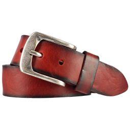 Jeansgürtel Walkledergürtel geprägt Rot 90 cm