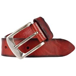 Jeansgürtel Walkledergürtel geprägt Rot 110 cm