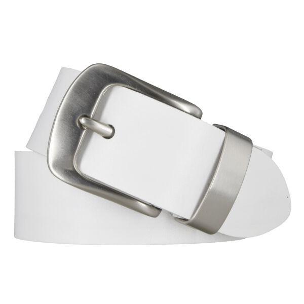 Ledergürtel 40 mm weiß Rindleder kürzbar 80 cm