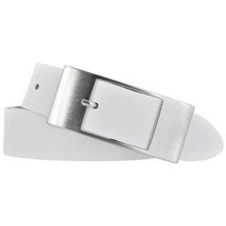 Bernd Götz Damen Ledergürtel 35 mm weiß Rindleder 80 cm