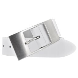 Bernd Götz Damen Ledergürtel 35 mm weiß Rindleder 85 cm