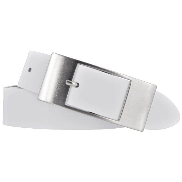 Bernd Götz Damen Ledergürtel 35 mm weiß Rindleder 100 cm