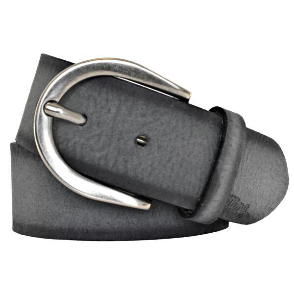 Damengürtel Ledergürtel Mustang anthrazit schwarz 40mm 90 cm