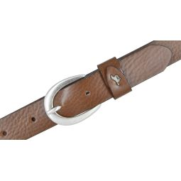 Damengürtel Ledergürtel genarbt 25 mm cognac braun 100 cm