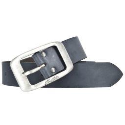 Tom Tailor Damen Leder Gürtel Belt Ledergürtel Rindleder used Blau 40mm Eindornschließe