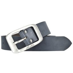 Tom Tailor Damen Leder Gürtel Belt Ledergürtel Rindleder used Blau 40mm Eindornschließe 100 cm