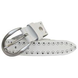 Bernd Götz Damen Leder Gürtel 30 mm weiß Softleder kürzbar