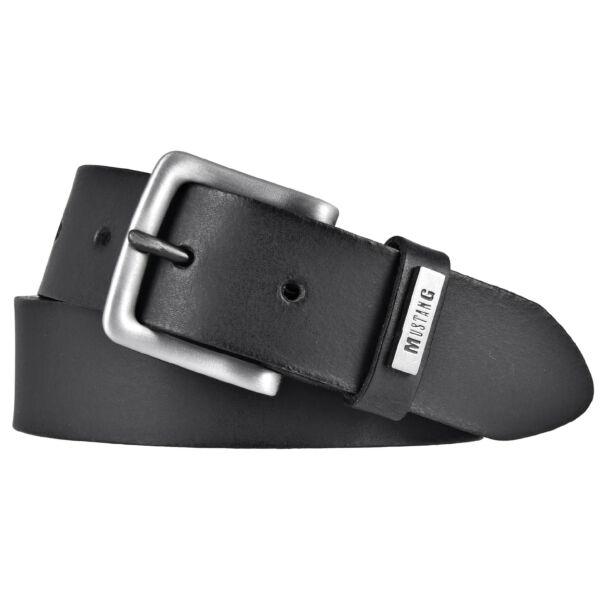 Mustang Herren Ledergürtel 35 mm schwarz 110 cm