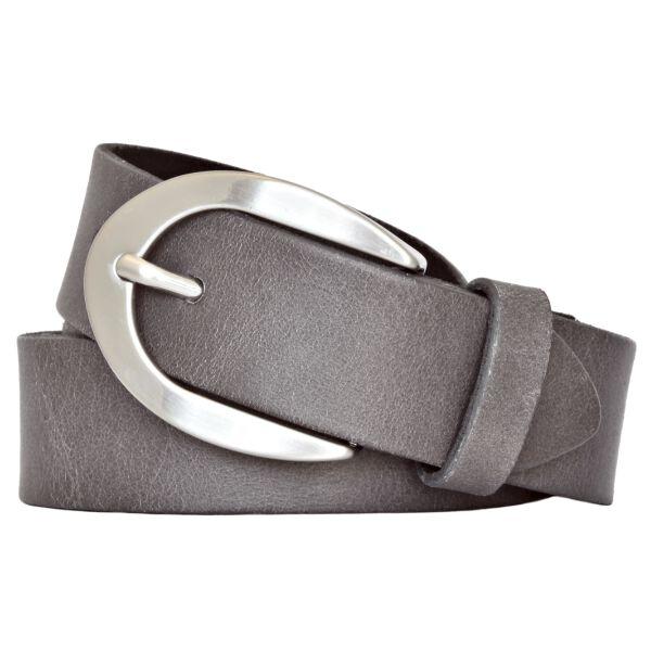 Vanzetti Damen Leder Gürtel Vollrindleder Damengürtel grau 30mm Ledergürtel 105 cm